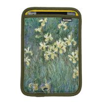Claude Monet   The Yellow Irises Sleeve For iPad Mini