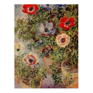 Claude Monet - todavía vida con Anemonies Postales