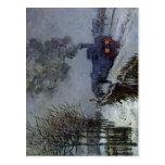 Claude Monet Train in the Snow 1875 Technique Oil  Postcard