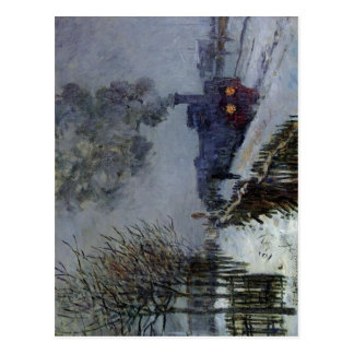 Claude Monet Train in the Snow 1875 Technique Oil  Postcard