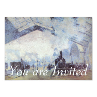 Claude Monet Train Station Card