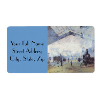 Claude Monet Train Station Label