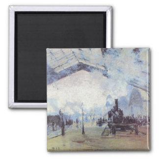 Claude Monet Train Station Magnet
