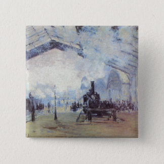 Claude Monet Train Station Pinback Button