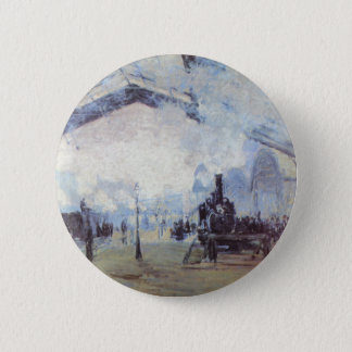 Claude Monet Train Station Popular Vintage Art Pinback Button