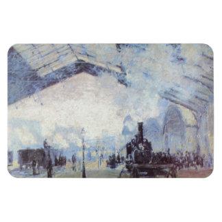 Claude Monet Train Station Vinyl Magnets