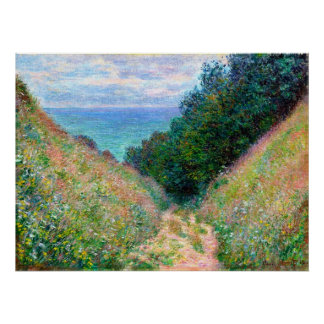 Claude Monet: Trayectoria en el La Cavee Pourville Impresiones