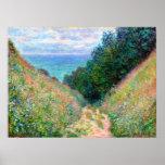 Claude Monet: Trayectoria en el La Cavee Pourville Póster