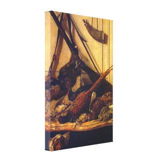 Claude Monet - trofeo de la caza Lienzo Envuelto Para Galerias