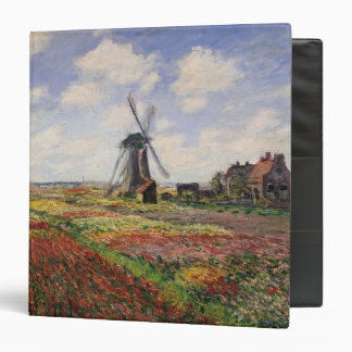 Claude Monet | Tulip Fields Rijnsburg Windmill 3 Ring Binder