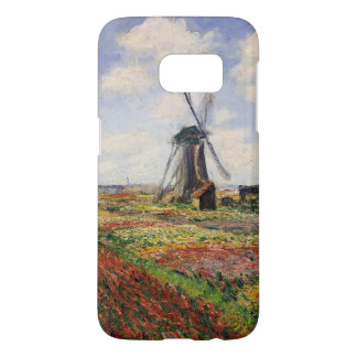 Claude Monet | Tulip Fields Rijnsburg Windmill Samsung Galaxy S7 Case