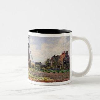 Claude Monet | Tulip Fields Rijnsburg Windmill Two-Tone Coffee Mug