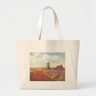 Claude Monet Tulips in Holland Tote Bags