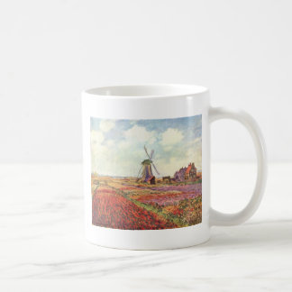 Claude Monet Tulips in Holland Classic White Coffee Mug