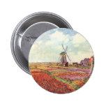 Claude Monet Tulips in Holland Pin