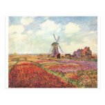 Claude Monet Tulips in Holland Postcard