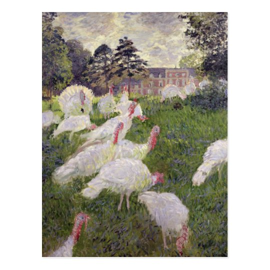 Claude Monet | Turkeys at Chateau de Rottembourg Postcard
