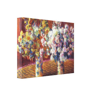 Claude Monet - Two vases of Chrysanthemums Canvas Print