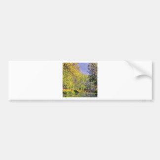 Claude Monet una curva del Epte Pegatina De Parachoque