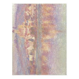 ¿Claude Monet V? aceite del theuil 1901 en la lona Postales