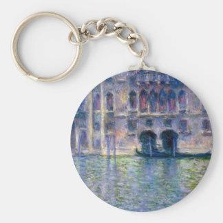 Claude Monet Venice Basic Round Button Keychain