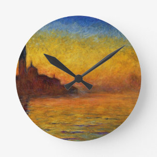 Claude Monet // Venice Twilight Round Clock