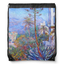 Claude Monet: Villas at Bordighera Drawstring Backpack