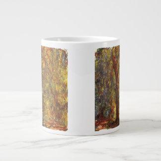 Claude Monet Vintage Impressionism, Weeping Willow 20 Oz Large Ceramic Coffee Mug