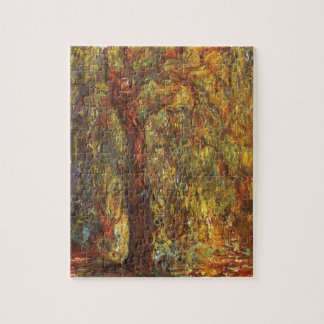 Claude Monet Vintage Impressionism, Weeping Willow Jigsaw Puzzle