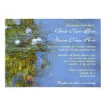 Claude Monet vintage waterlily wedding Personalized Announcements