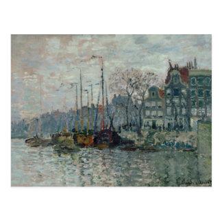 Claude Monet - vista del Prins Hendrikkade Postal