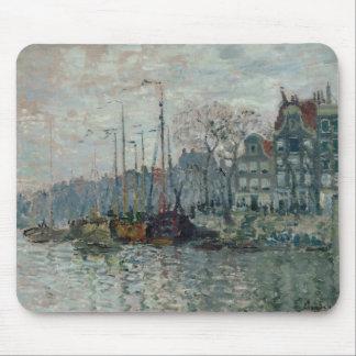 Claude Monet - vista del Prins Hendrikkade Tapetes De Ratón