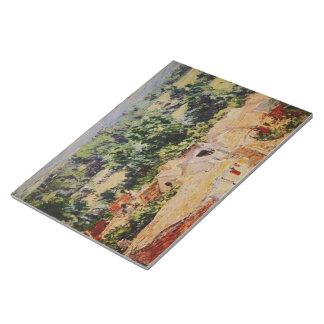 Claude Monet - Vue du village de Giverny Bloc