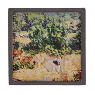 Claude Monet - Vue du village de Giverny Caja De Joyas De Calidad