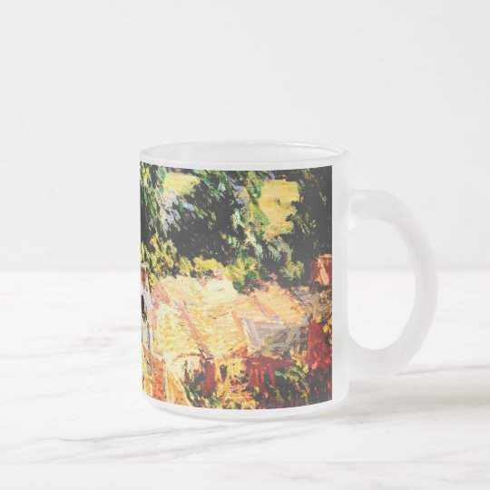 Claude Monet - Vue du village de Giverny Frosted Glass Coffee Mug