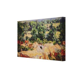 Claude Monet - Vue du village de Giverny Lona Envuelta Para Galerías