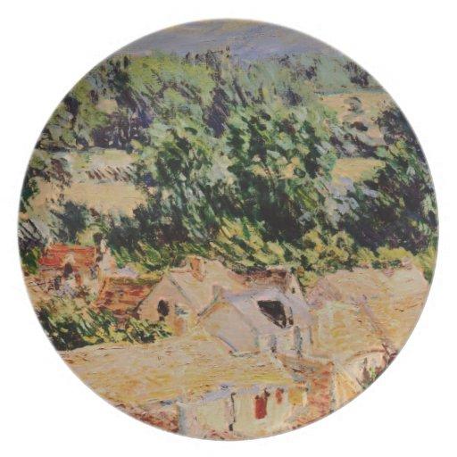 Claude Monet - Vue du village de Giverny Plato De Comida