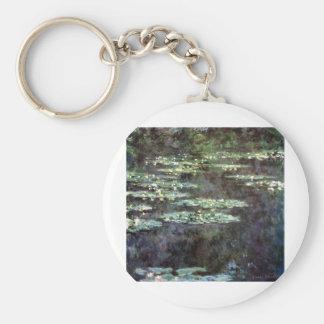 Claude Monet - Water Lilies (1904) Basic Round Button Keychain