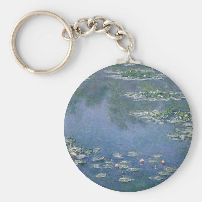 Claude Monet - Water Lilies - 1906 Ryerson Keychain