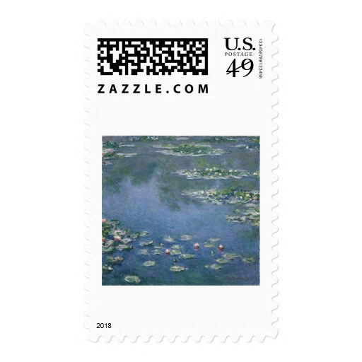 Claude Monet - Water Lilies - 1906 Ryerson Postage Stamps