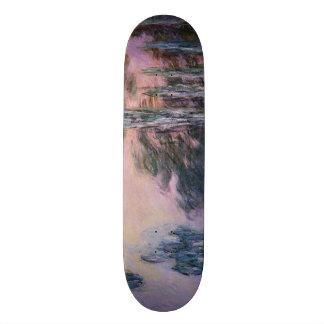 Claude Monet Water Lilies, 1907 GalleryHD Fine Art Skateboard Deck