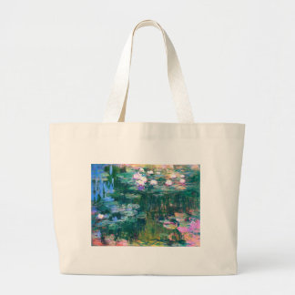 Claude Monet Water Lilies 1917 Large Tote Bag