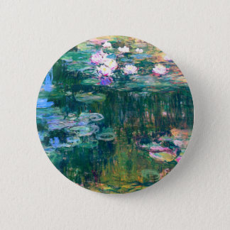 Claude Monet Water Lilies 1917 Pinback Button