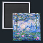 """Claude Monet - Water Lilies, 1919 Magnet<br><div class=""""desc"""">Monet painting of Water Lilies,  1919,  refrigerator magnet. VIRGINIA5050,  custom-designed products and gifts at www.zazzle.com/virginia5050*,  PaulKleeGiftShop,  InternationalGifts,  RetirementGiftStore,  BirthdayGiftStore,  ILoveGiftStore,  and FloridaGiftStore.zazzle.com/FloridaGiftStore.</div>"""