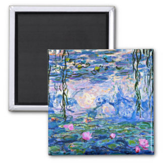 Claude Monet - Water Lilies, 1919 2 Inch Square Magnet