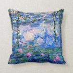 Claude Monet - Water Lilies, 1919 Throw Pillow