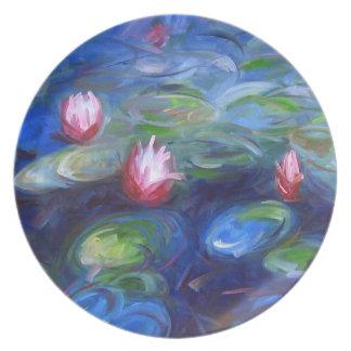 Claude Monet: Water Lilies 2 Melamine Plate