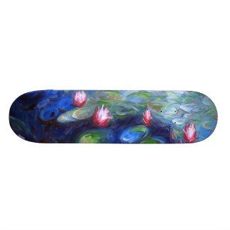 Claude Monet: Water Lilies 2 Skateboard Deck