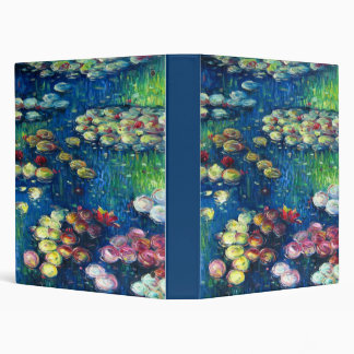Claude Monet: Water Lilies 3 Binder