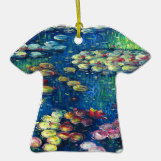 Claude Monet: Water Lilies 3 Double-Sided T-Shirt Ceramic Christmas Ornament